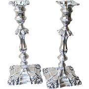 20th Century Sterling Candlesticks Repousse Work