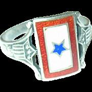 Vintage WW II  Ring Son's in Service Blue Star
