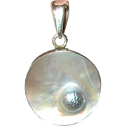 Vintage Pendant Sterling Mother-of-Pearl