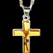 Vintage Necklace Cross Pendant Sterling