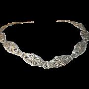 Vintage Link Necklace Repousse Work