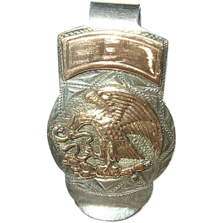 Vintage 14K 900 Coin Silver Money Clip