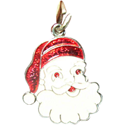 Vintage Charm Sterling Enamel Santa Claus