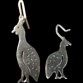 Vintage Sterling Earrings Birds
