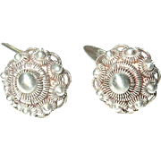 Vintage Cuff Links 835 Coin Silver by G.B.S