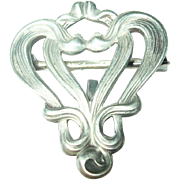Edwardian Lapel Brooch Sterling