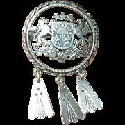 Vintage Brooch English Sterling