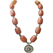 Antique Necklace Butterscotch Amber 202 Grams
