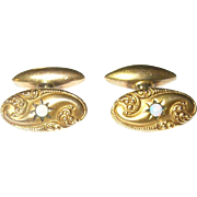 Antique 14K Cuff Links 1890's