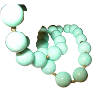 Vintage Bead Necklace Blue 1930's