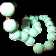 Vintage Bead Necklace Blue 1930's