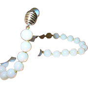 Vintage Necklace by Les Bernard Opaque Beads