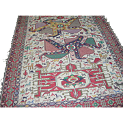 Vintage Rug Tribal Hand Loomed