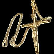 Vintage 14K Necklace Cross/Pendant
