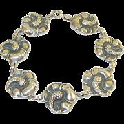 Viking Craft Sterling Link Bracelet