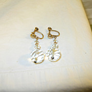 Vintage Gold Filled & Crystal Drop Earrings by B.M. Co.