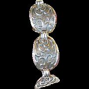 Vintage Bracelet Sterling Links Modernist Design