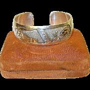 Vintage Navajo Sterling Cuff Bracelet