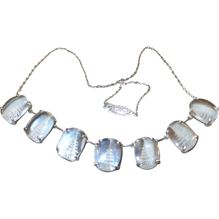 vintage necklace sterling pagoda rock drops from