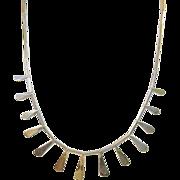 Vintage Modernist Sterling Bibb Necklace