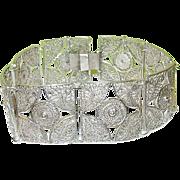 Vintage Sterling Filigree Link Bracelet