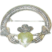 Vintage Sterling Irish Brooch