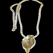 Vintage Sterling & Vermeil Necklace & Pendant Modernist Design