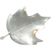 Vintage Sterling Leaf Brooch by Stuart Nye
