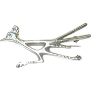 Vintage Sterling Brooch Road Runner