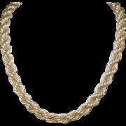 Vintage Necklace Gold Filled Satin Finish