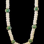 Vintage Enamel & Plastic Bead Necklace