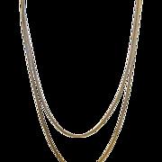 Vintage Woven Necklace Gold Filled