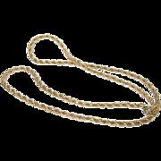 Vintage Robe Necklace Gold Filled