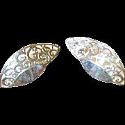 Vintage Sterling Earrings Openwork