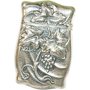 Art Nouveau Sterling Match Safe Repousse Design