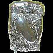 Art Nouveau Sterling Match Safe - Red Tag Sale Item