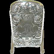 Art Nouveau Sterling Match Safe by Gorham 1880's - Red Tag Sale Item