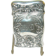 Art Nouveau Sterling Match Safe by Richard Richardson 1910
