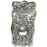 Art Nouveau Sterling Match Safe Repousse Work