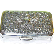 Vintage Sterling Pill Box Siam