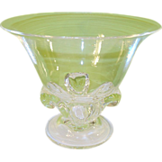 Vintage Steuben Footed Consul Bowl