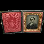 Daguerreotype & Gutta Percha Frame Young Man