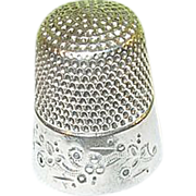 Vintage Sterling Thimble Hand Chased Design
