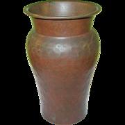 Vintage Arts & Crafts Hand Hammered Copper Vase - Red Tag Sale Item