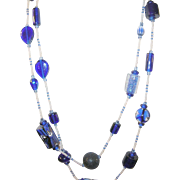 Vintage Art Glass Bead Necklace