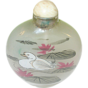 Vintage Snuff Bottle Reverse Painting