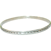 Vintage Sterling Silver Chased Bangle