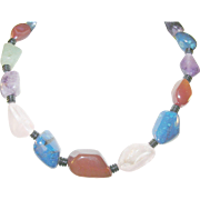 Vintage Semi Precious Bead Necklace