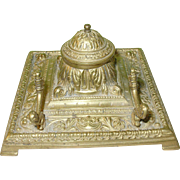 Victorian Bronze Inkwell