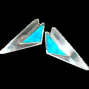 Vintage Sterling Modernist Earrings
